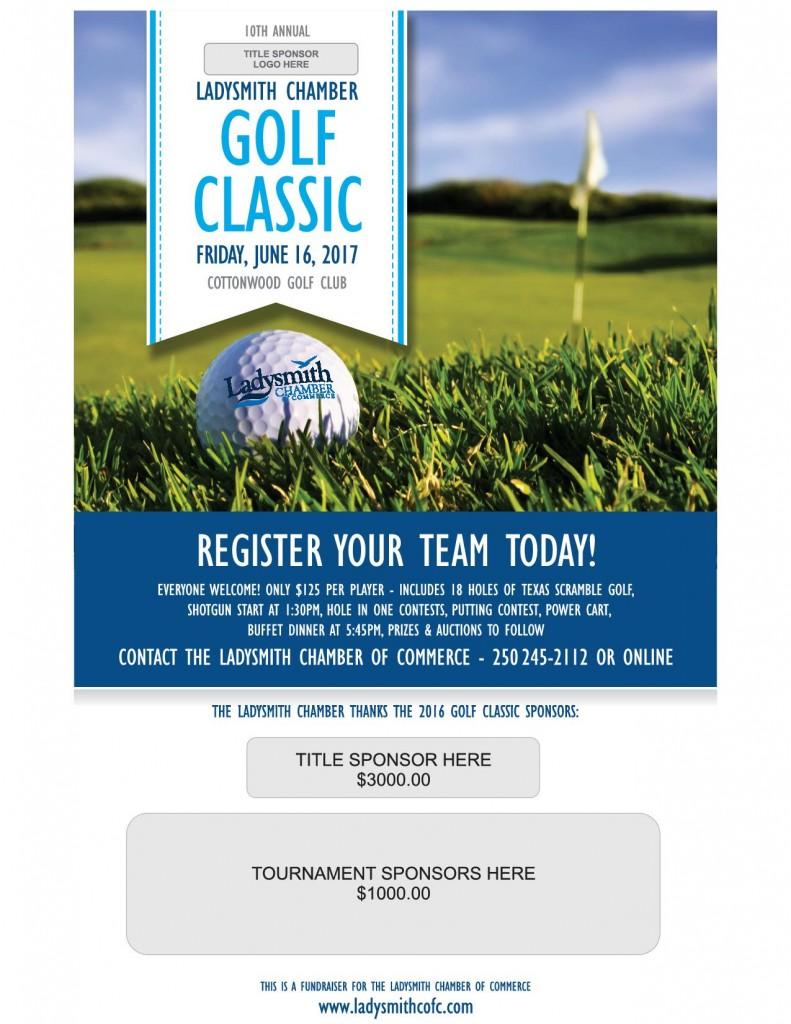 Ladysmith Chamber golf poster 2017 no sponsors