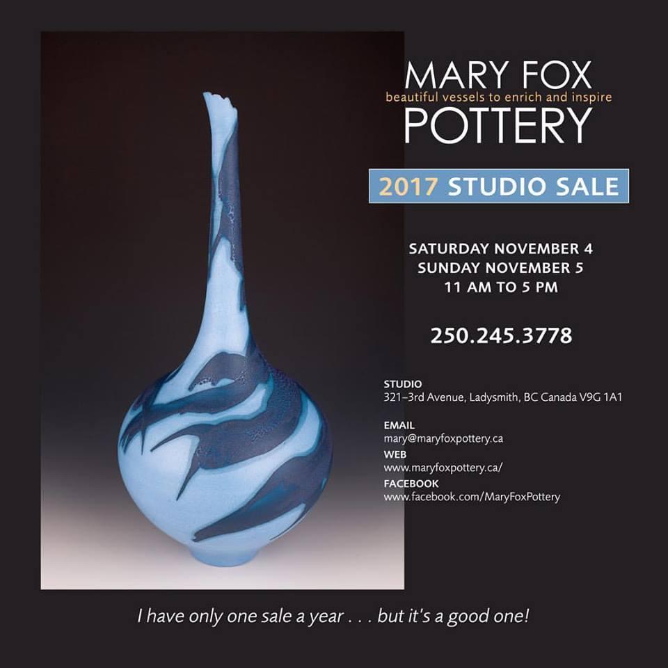 Mary Fox 2017 Studio Sale